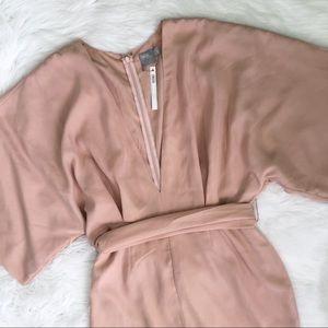 ASOS Blush Pink Tie Dress